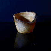 Natural edged vase/bowl; spalted beech (commission)