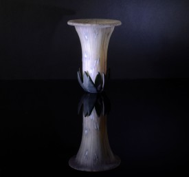 Kiln-Formed deep vessel; glass powders and sheet; 107mm diameterx 140mm height; created June 2014